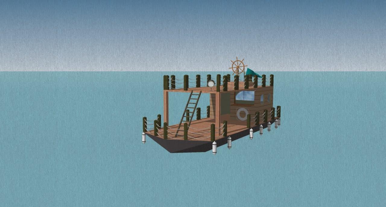 Eine erste 3D-Skizze vom Floss